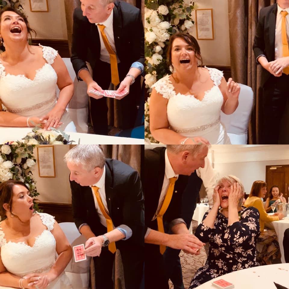 wedding magician providing laughs despite government restrictions