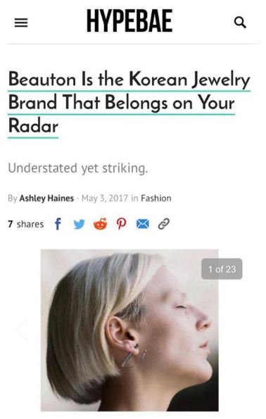 Beauton Is the Korean Jewelry Brand That Belongs on Your Radar @HYPEBAE @Machine-a