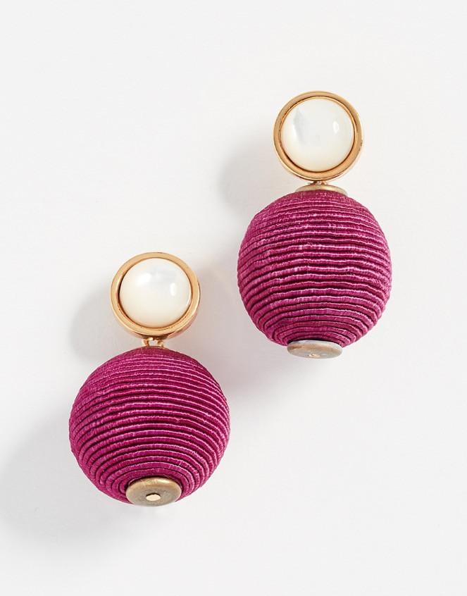 Lizzie Fortunato Pink Mara Earrings