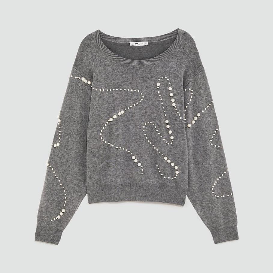 Zara Pearl Sweater