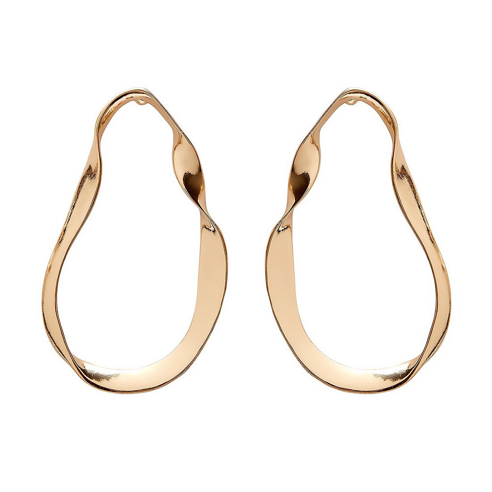 Sportsgirl Moulded Gold Hoop Earring