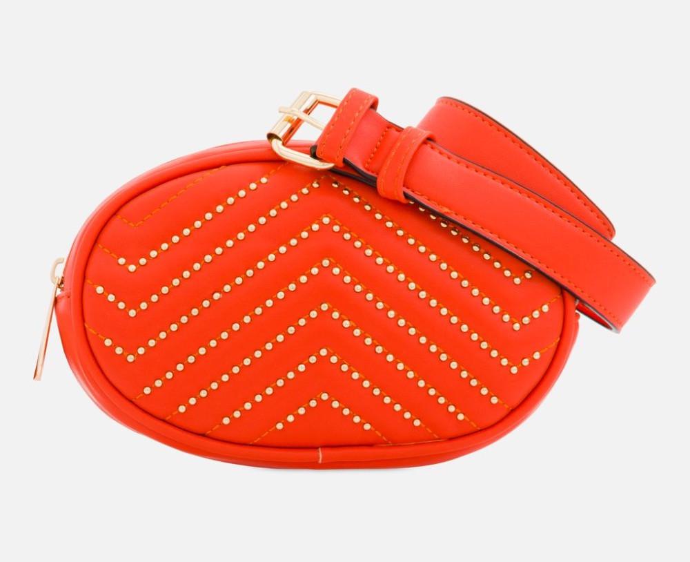 Orange studded bum bag