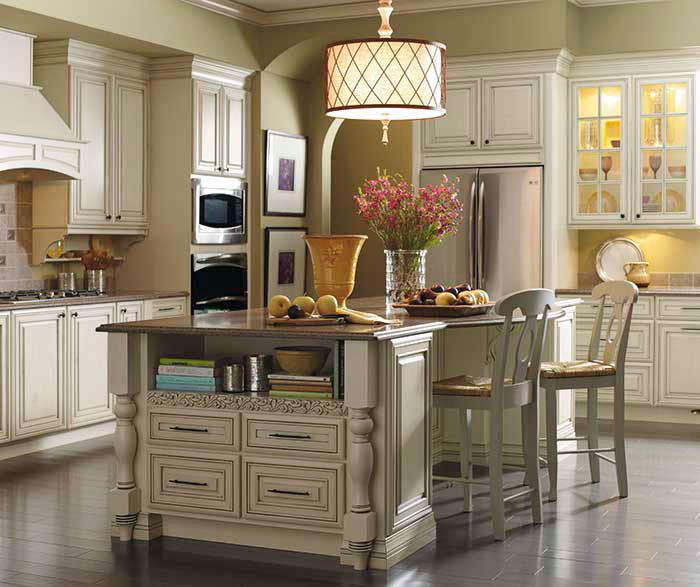 Cream Cabinets With Glaze