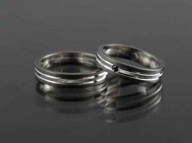 Obrączki tytanowo-srebrne TS11