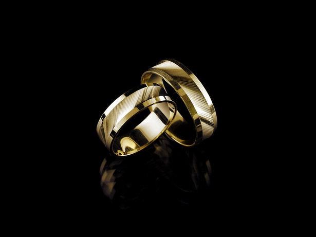 Obrączki ślubne z żółtego złota,  6 mm