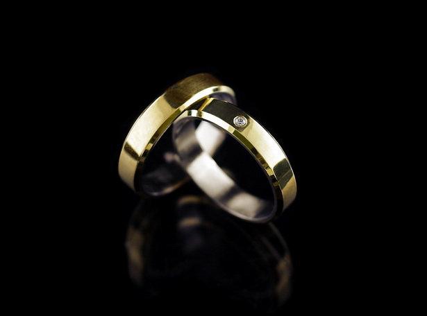 Kopia Obrączki tytanowo złote tg 22