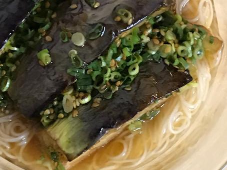 揚げ茄子の冷やかけ素麺