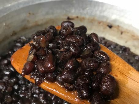 小豆を炊きました。