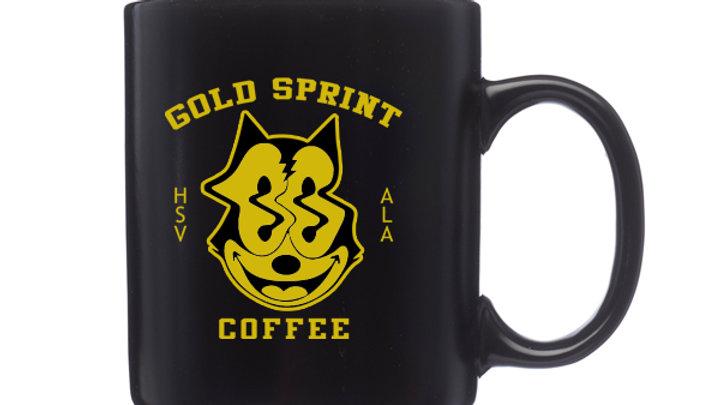 Gold Sprint Cat Mug