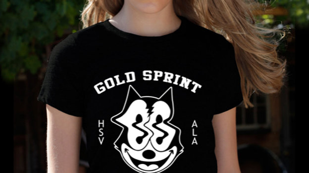 Gold Sprint Cat Shirt Black