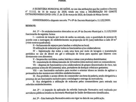 Instrução Normativa nº 01 de 08 de Abril de 2020.