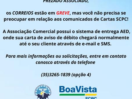 ATENÇÃO - CORREIOS EM GREVE!