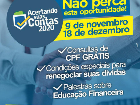 ACAITP promove a 2ª Edição da Campanha ACERTANDO SUAS CONTAS 2021