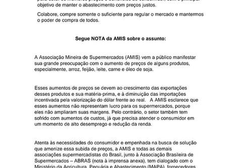 A ALTA DE PREÇOS NOS ALIMENTOS - INFORMATIVO ACAITP