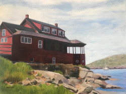 Red House in Maine