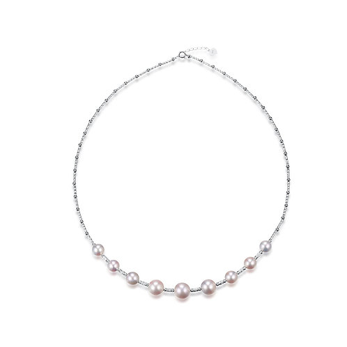 Wild Thought Necklace -18kt White Gold Akoya Pearl