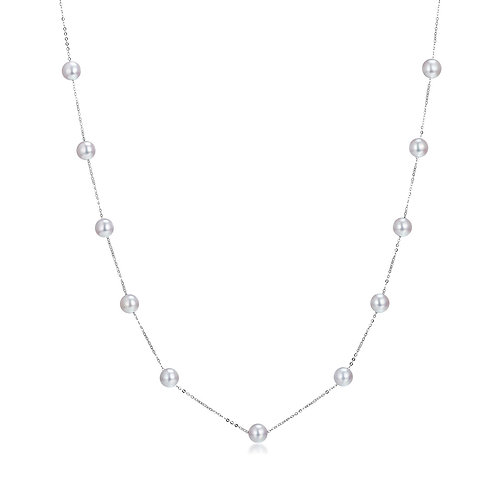 Starlight Necklace - 18kt White Gold Akoya Pearl