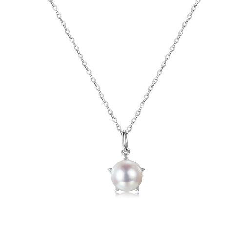 Nova Pendant - 18kt White Gold Akoya Pearl