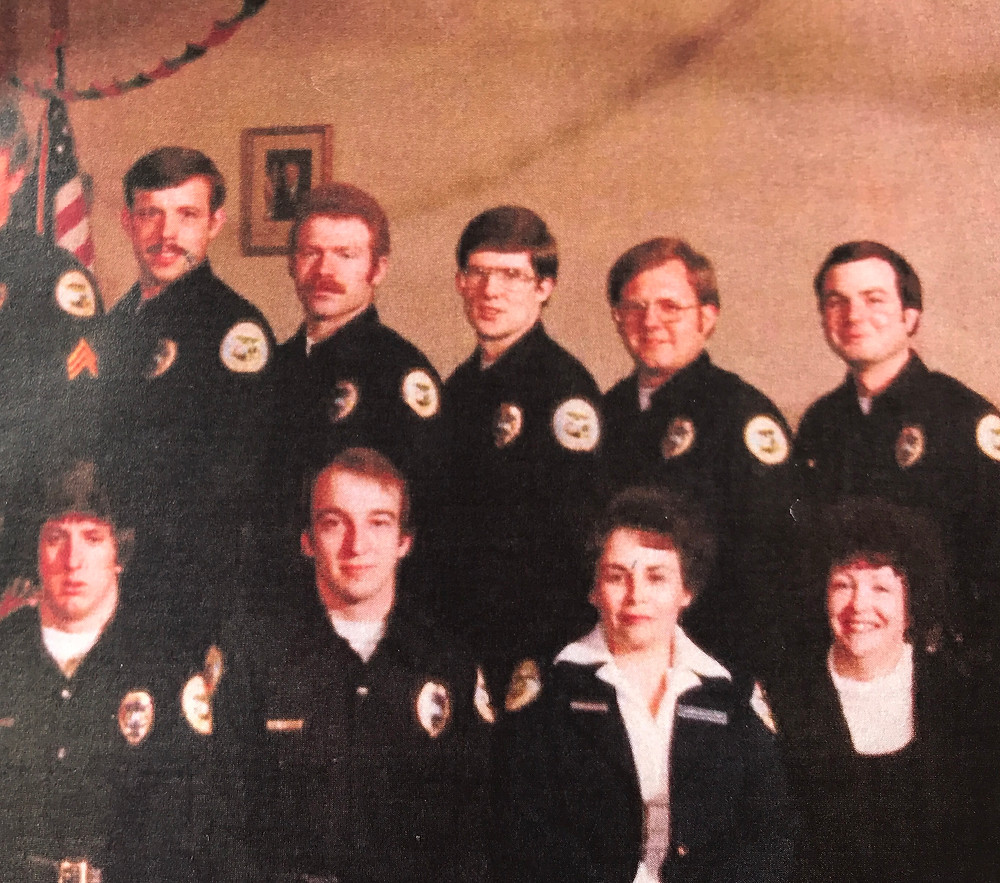 Picture of an old picture of a few KPD people / The Dilapidated Police Clipboard / www.HoneycombOasis.com