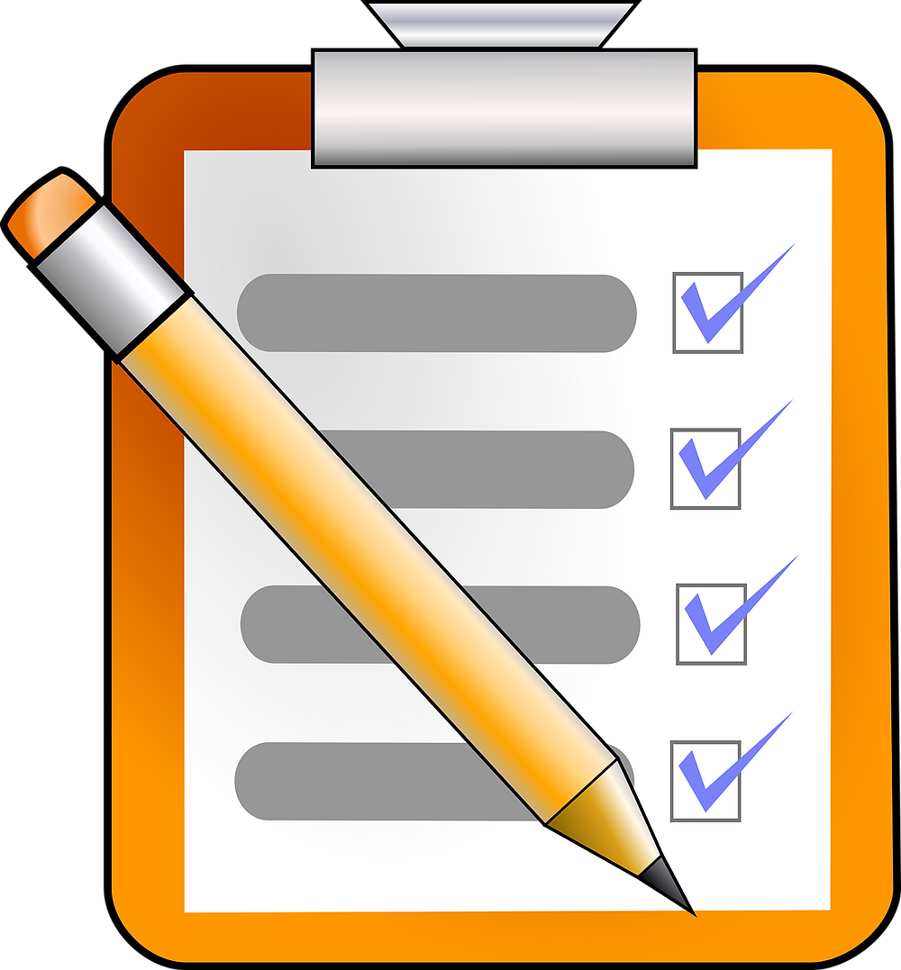Checklist clipboard with pencil / Commune With Me Guide / www.HoneycombOasis.com