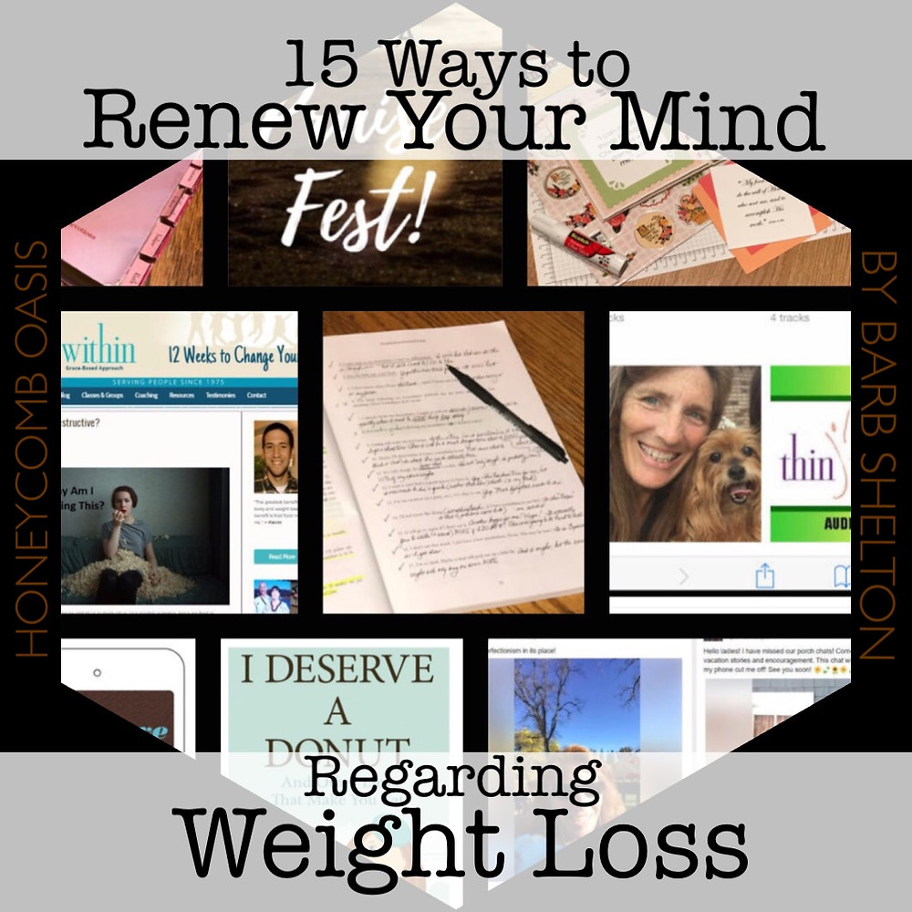 Hexagon pic for 15 Ways to Renew Your Mind Regarding Weight Loss / www.HoneycombOasis.com