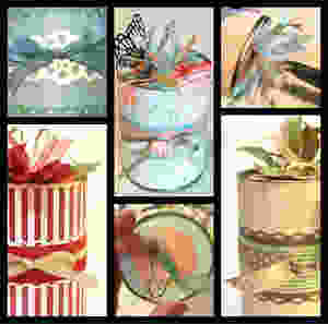 Collage of aspects of decorating your can / Gift-in-a-Can: Decorating It  (Part 3) / www.HoneycombOasis.com