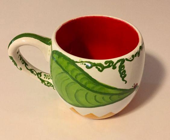 """After"" pic of a sunflower mug / HoneycombOasis.com"