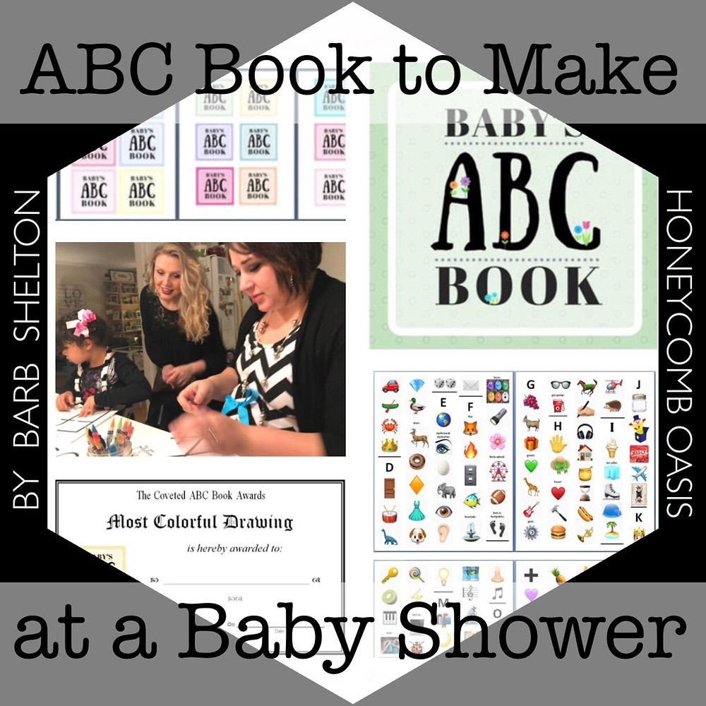 Hexagon pic for ABC Book to Makeat a Baby Shower / www.HoneycombOasis.com