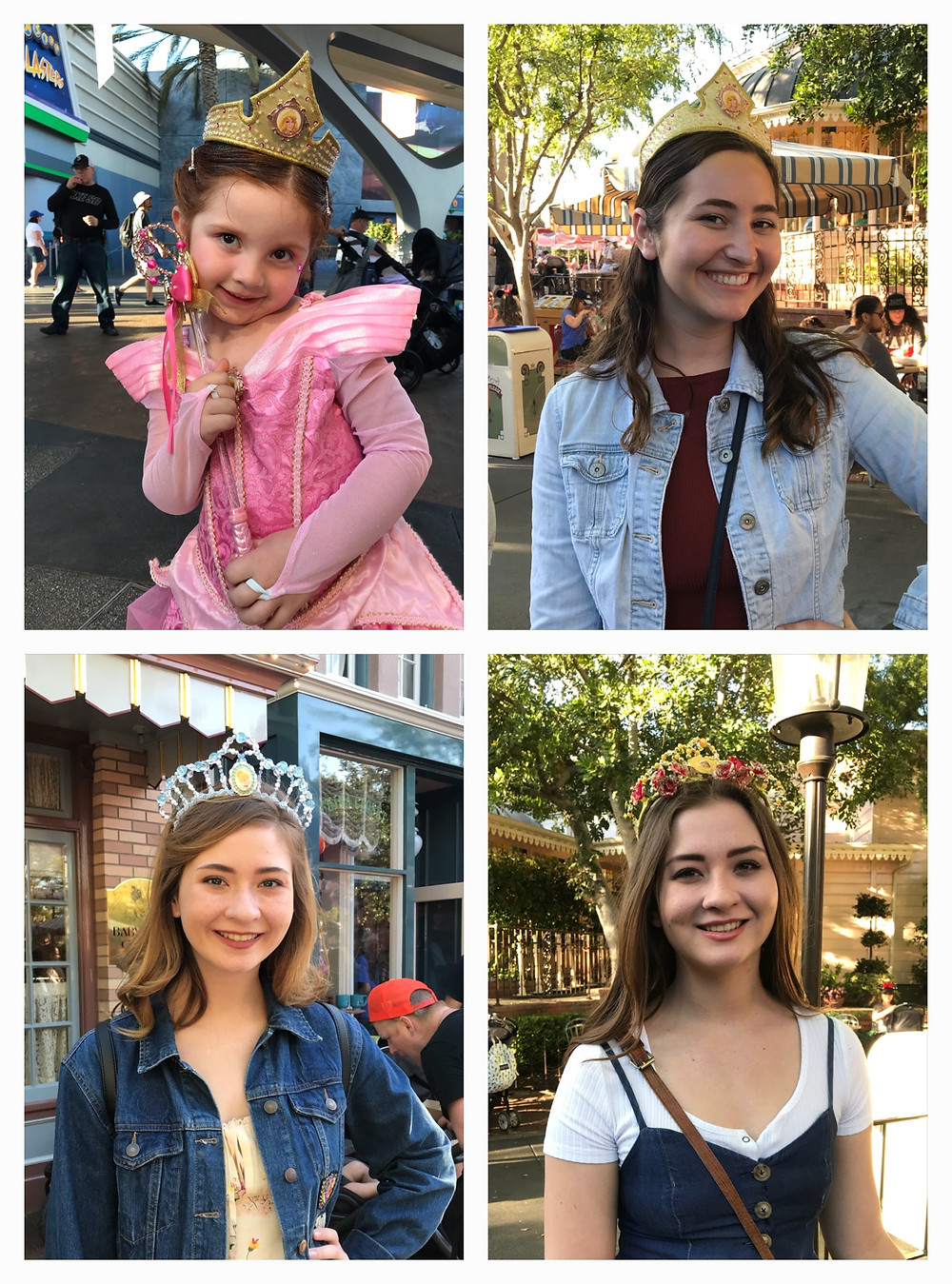 "4 ""princesses"" at Disneyland / Are You a Princess? / www.HoneycombOasis.com"