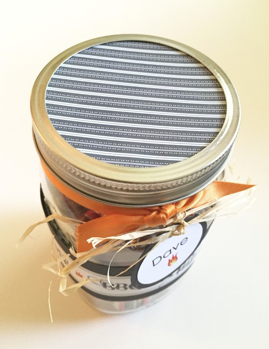 View of the top of the jar / Man Gift In A Jar / www.HoneycombOasis.com