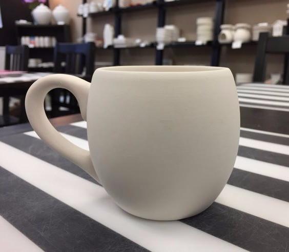 """Beefore"" pic of a sunflower mug / HoneycombOasis.com"