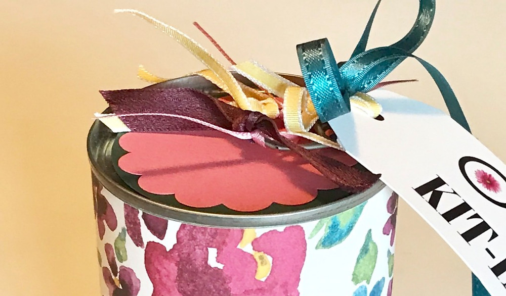 Top of Organizing Kit-in-a-Can / Gift-in-a-Can: Decorating It  (Part 3) / www.HoneycombOasis.com