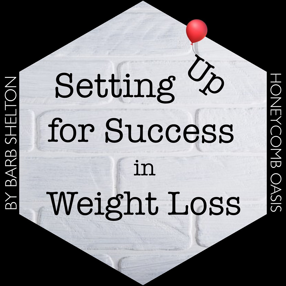 Hexa-graphic for Setting Up for Success in Weight Loss / www.HoneycombOasis.com