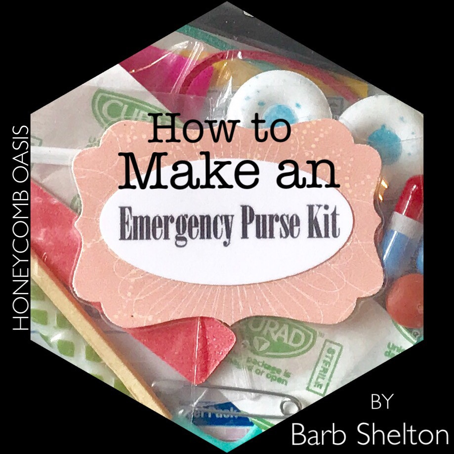 Hexa-pic for How to Make an Emergency Purse Kit / www.HoneycombOasis.com