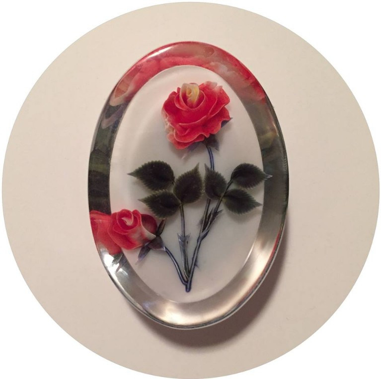 Clear Rose Brooch / A Dozen Rosey Life Lessons / www.HoneycombOasis.com