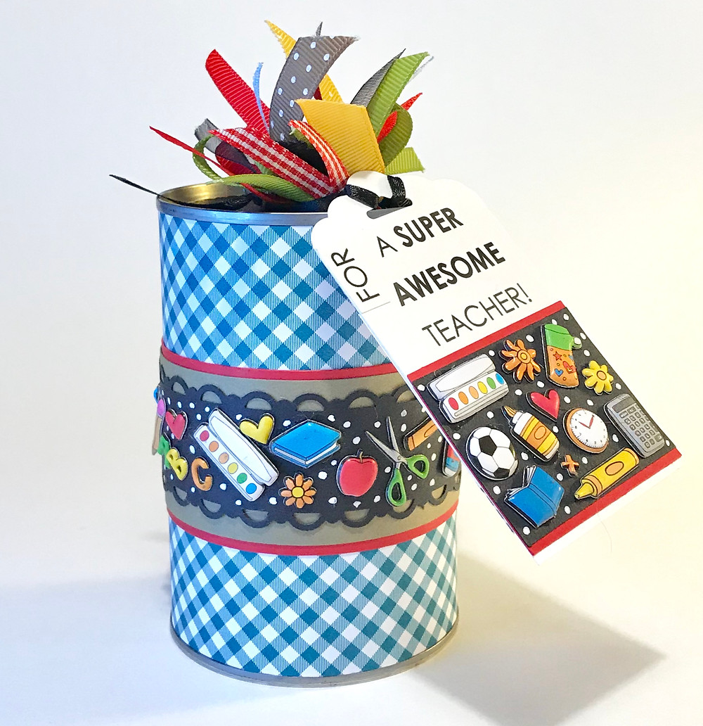 Full Teacher Appreciation Gift-in-a-Can with label / Teacher Appreciation Gift-in-a-Can / www.HoneycombOasis.com
