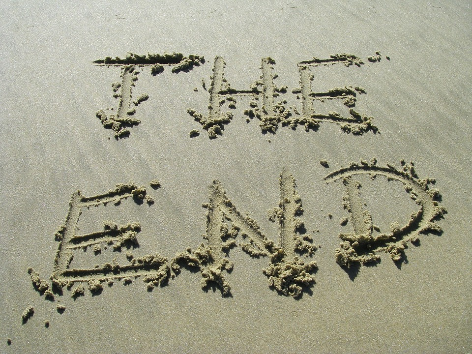 THE END in sand in 5 Sayings I'd Like to Change or Eliminate  ::  www.HoneycombOasis.com