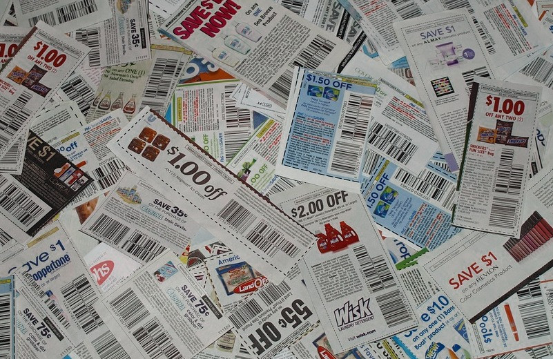 Pile of coupons / The Blue Chip Stamp Story / www.HoneycombOasis.com