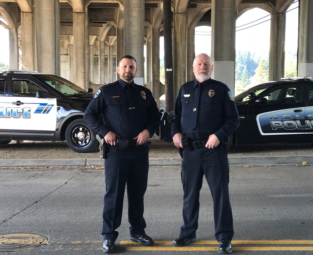Officer Dave Shelton with our son, Officer Tory Shelton / Cop's Last Shift & Final Sign-off / HoneycombOasis.com