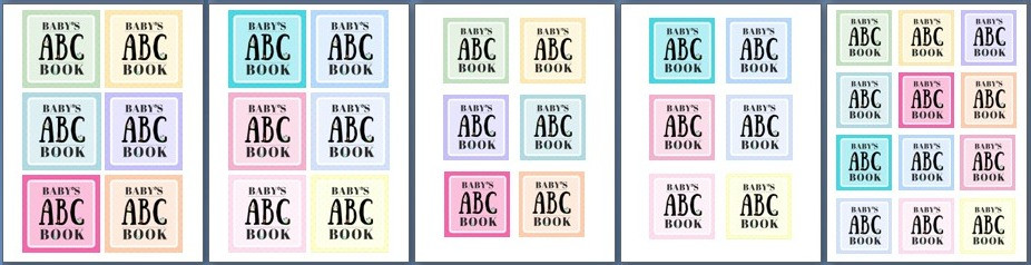 3 sizes of small blocks for cover / ABC Book to Makeat a Baby Shower / www.HoneycombOasis.com