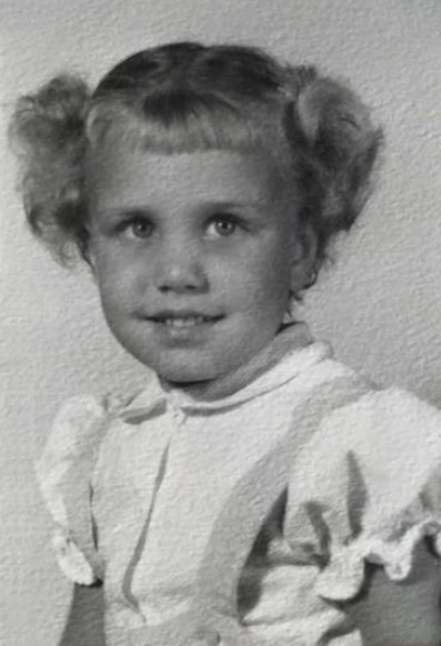 "Barbara Edtl at age 5 / ""Handling the Stingers of Life"" by Barb Shelton / www.HoneycombOasis.com"