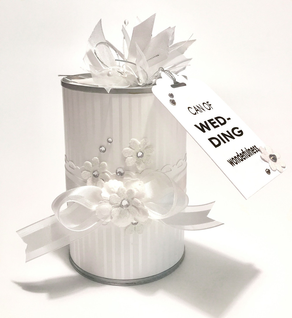 Wedding Gift-in-a-Can / Make a Wedding Gift-in-a-Can / www.HoneycombOasis.com