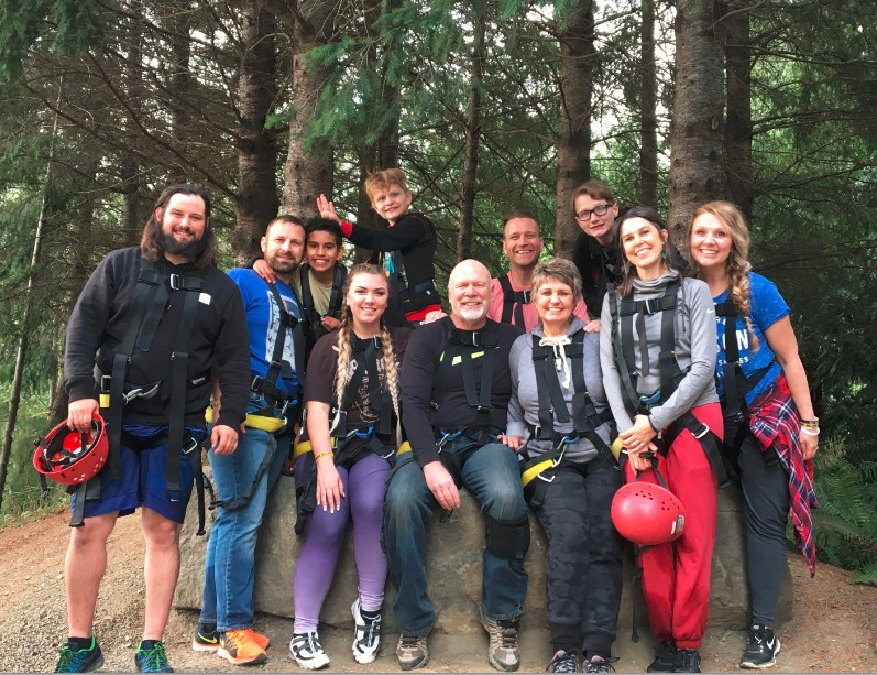 The Shelton Fam right after zip-lining / Cop's Last Shift & Final Sign-off / HoneycombOasis.com