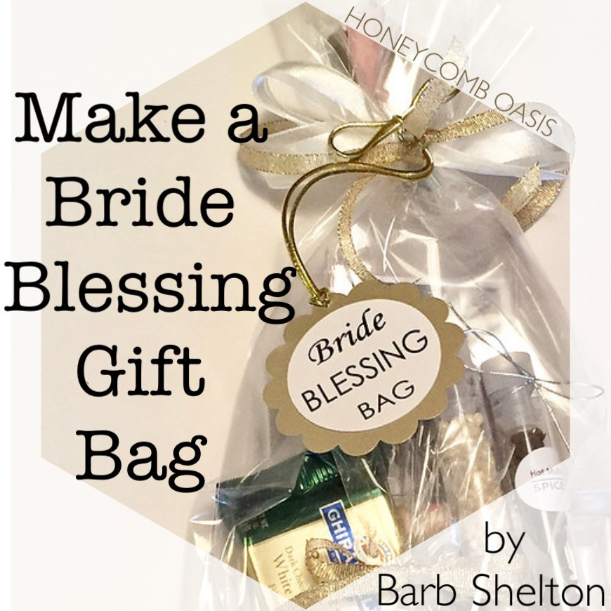 hexagon graphic for Make a Bride Blessing Gift Bag / www.HoneycombOasis.com
