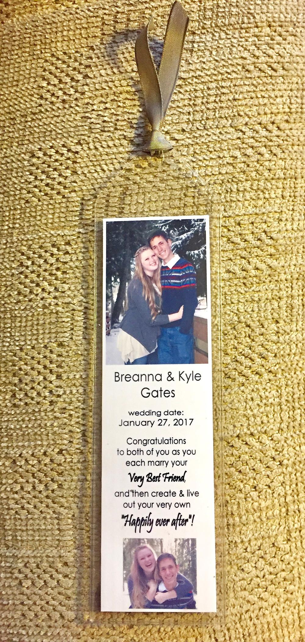 Bookmaker for Breanna & Kyle / Make a Bride Blessing Gift Bag / www.HoneycombOasis.com
