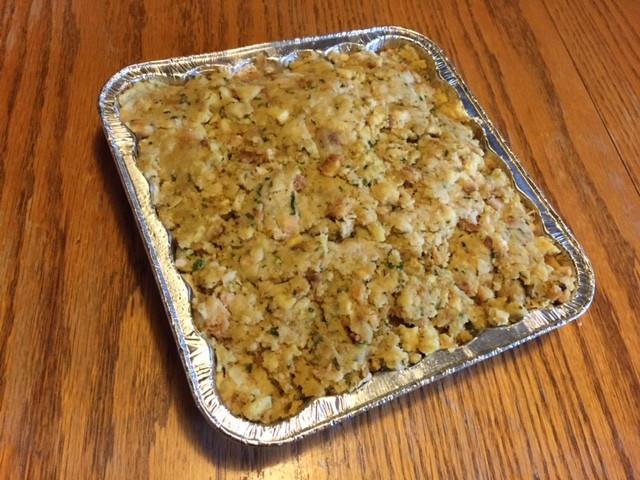 3rd layer: stuffing - Make a Thanksgiving Memories Casserole! / www.HoneycombOasis.com
