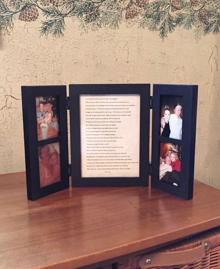 """My Daddy"" Poem by Sharnessa - in frame on dresser / www.HoneycombOasis.com"
