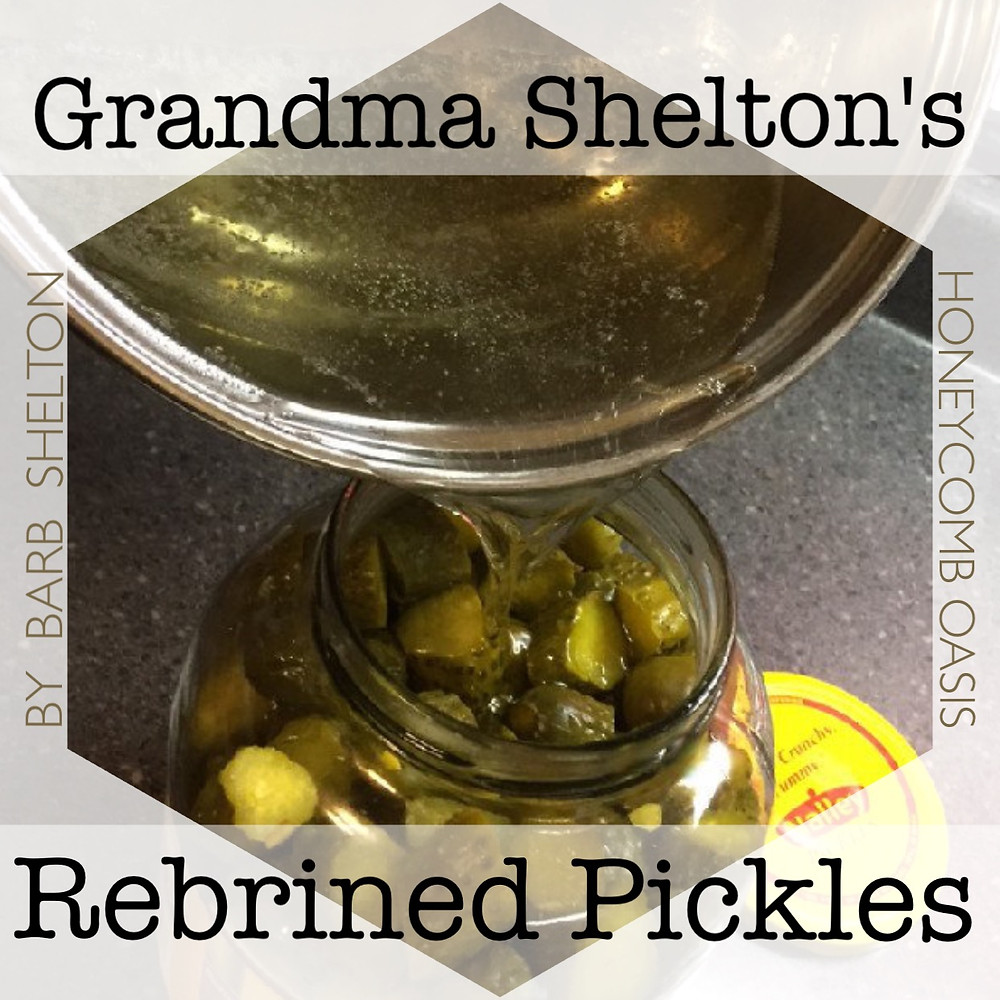 Hexagon pic of Gramma Shelton's Rebrined Pickles - www.HoneycombOasis.com