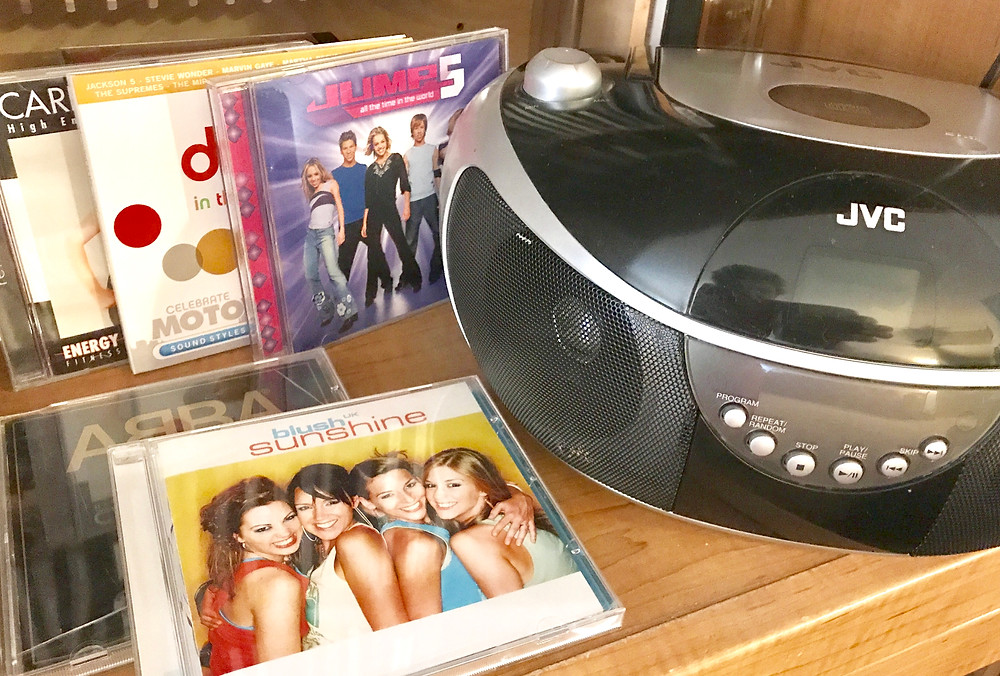 My aerobic dance CD's + CD player / Setting Up for Success in Weight Loss / www.HoneycombOasis.com