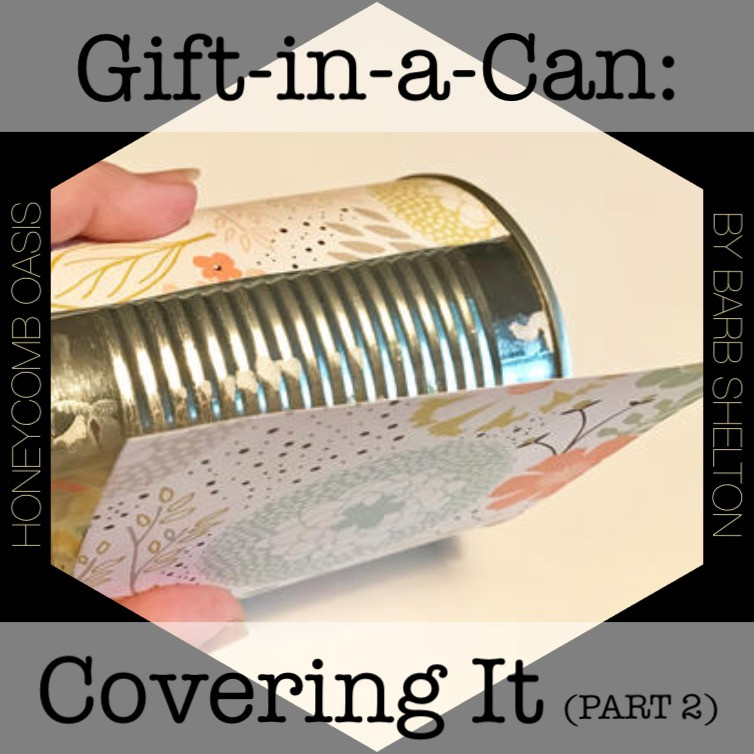 Hexagon-pic for Gift-in-a-Can: Covering It (Part 2) / www.HoneycombOasis.com